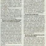 articolo pubblicato su la nazione 27.08.2009