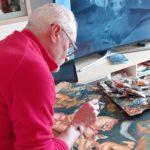 c'è chi fa una copia della 'Visione di Sant'Eustachio' del Pisanello
